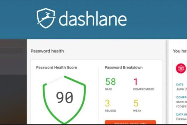 Dashlane main screen