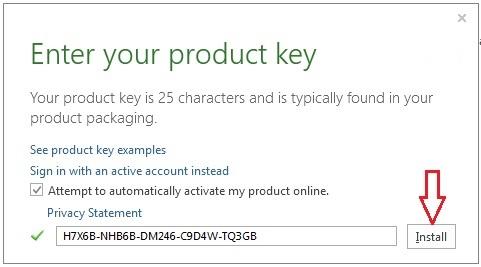 Clé de produit pour Microsoft offfice 2013