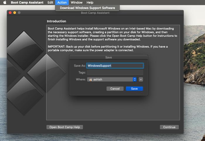 Boot Camp Télécharger le logiciel de support Windows