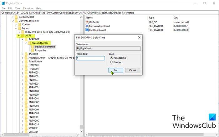 Comment changer la direction de défilement du trackpad sur Windows 10 Bootcamp