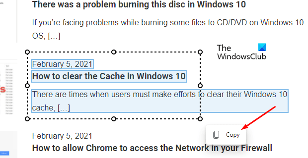Comment utiliser Smart Copy dans Microsoft Edge Chromium