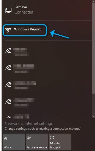 Où trouver la connexion VPN sortante