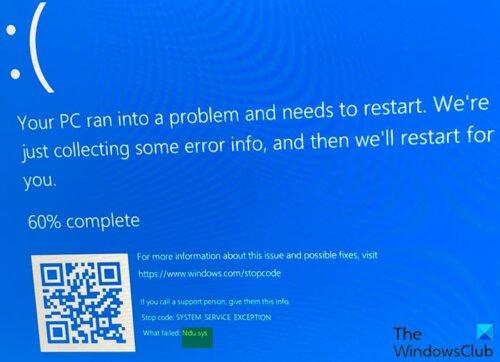 Erreur d'écran bleu Ndu.sys