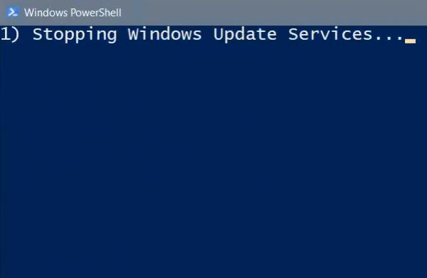 Réinitialiser le script de mise à jour Windows