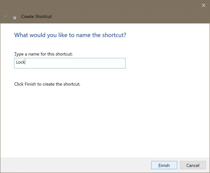 ajouter l'option de verrouillage au démarrage et à la barre des tâches dans Windows 10 pic3