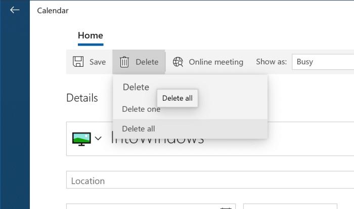 ajouter ou supprimer des rappels dans le calendrier Windows 10 pic11