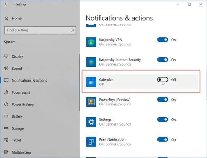 ajouter ou supprimer des rappels dans le calendrier Windows 10 pic13