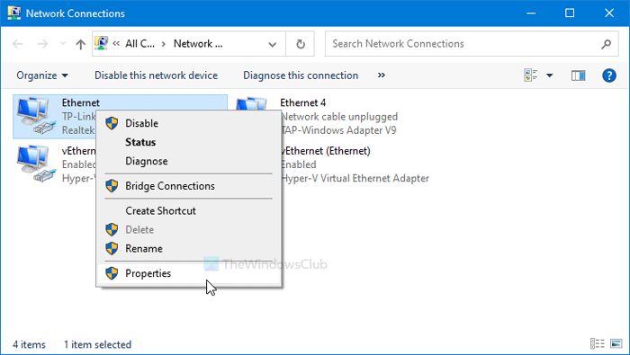 Comment désactiver le partage de connexion Internet (ICS) dans Windows 10