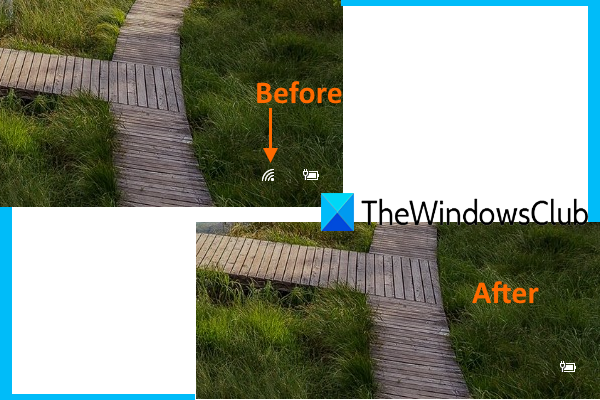 masquer l'icône du réseau sur l'écran de connexion et l'écran de verrouillage dans Windows 10