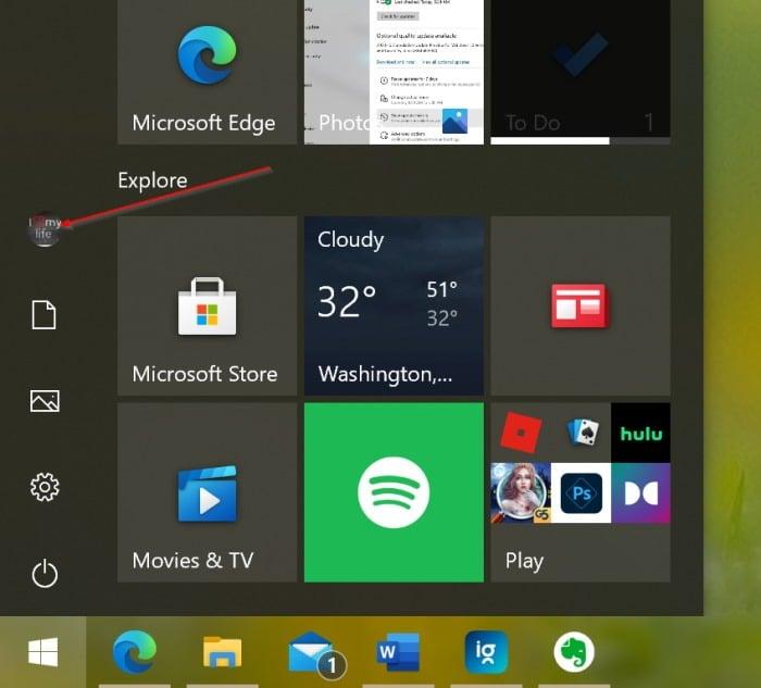verrouiller Windows 10 pc1
