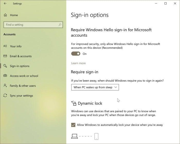 verrouiller Windows 10 pc3