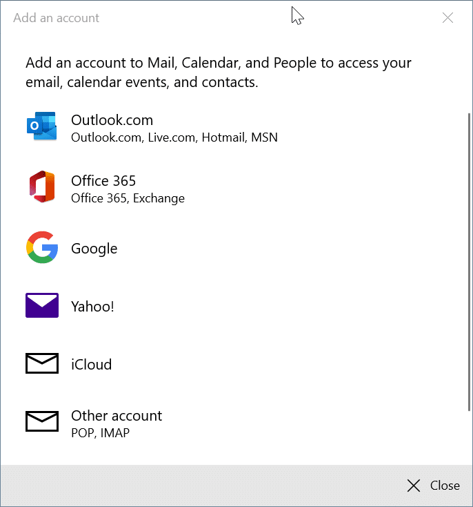 réorganiser les comptes de messagerie dans l'application Windows 10 Mail pic8