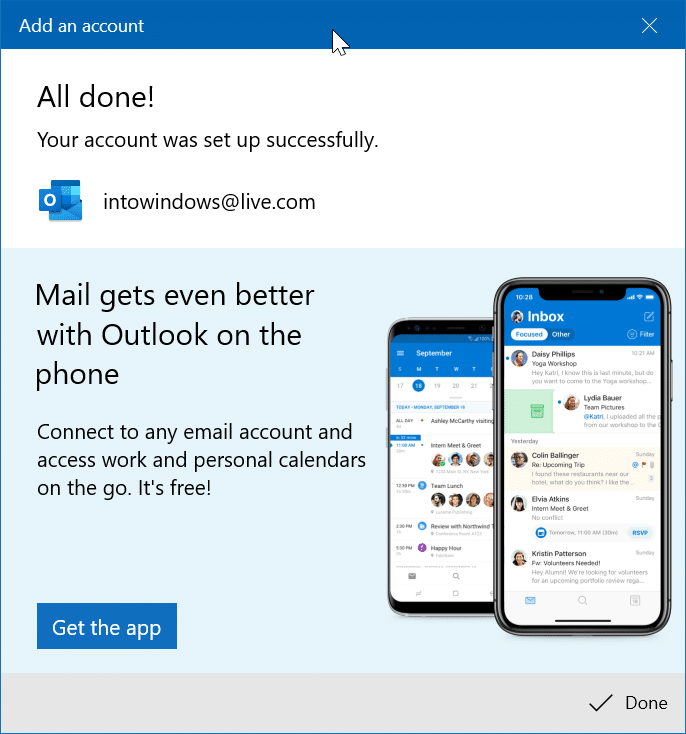 réorganiser les comptes de messagerie dans l'application Windows 10 Mail pic9
