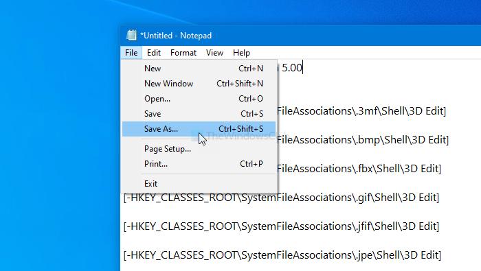 Comment supprimer Edit with Photos et Paint 3D du menu contextuel