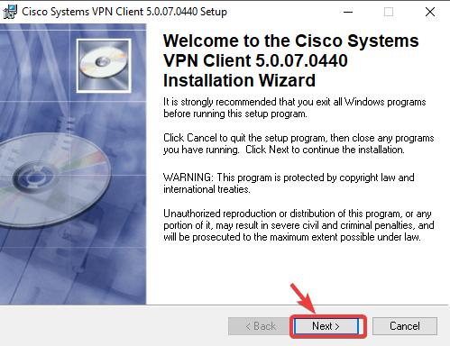 configuration du client VPN Cisco Systems VPN Cisco ne s'installe pas