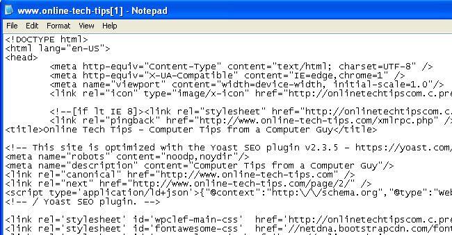 site Web de code source