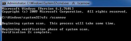 vérificateur de fichiers système