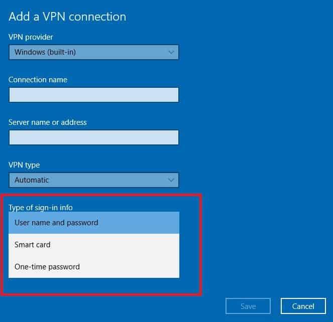 Le VPN n'est pas compatible avec Windows 10
