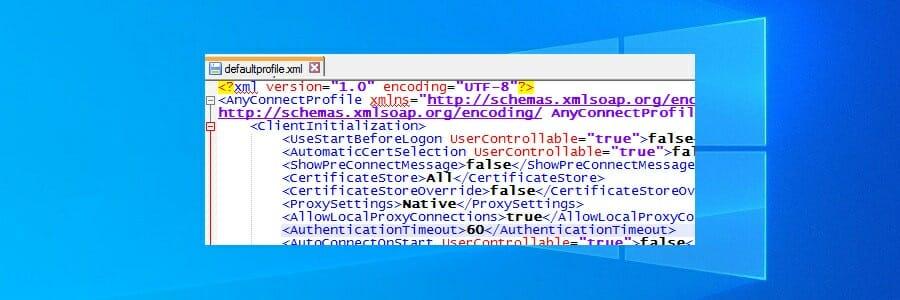 vérifier AnyConnect XML