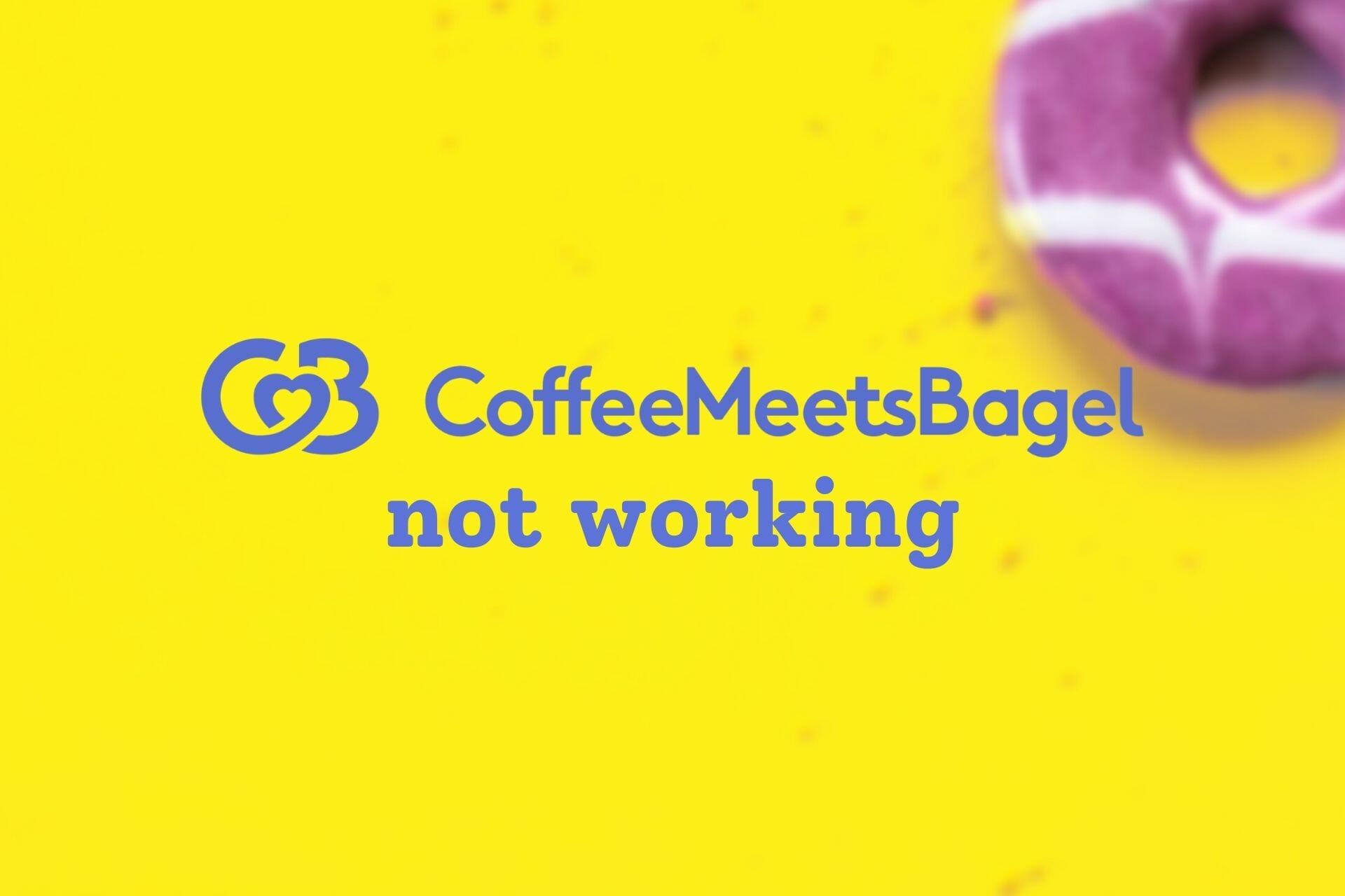Le café rencontre le bagel ne fonctionne pas