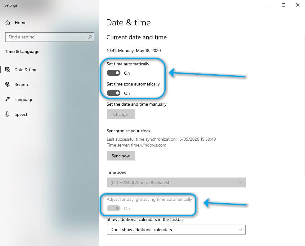 Configuration des paramètres de date et d'heure