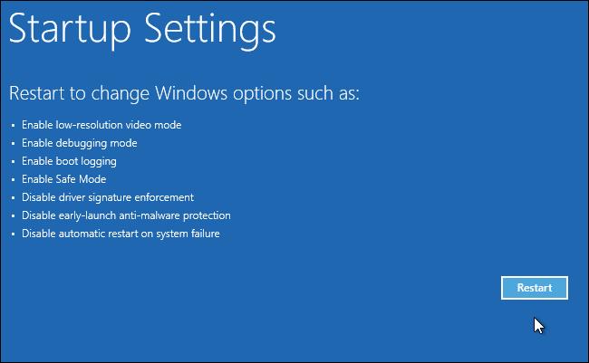 Windows 10 ne démarre pas après la restauration du système