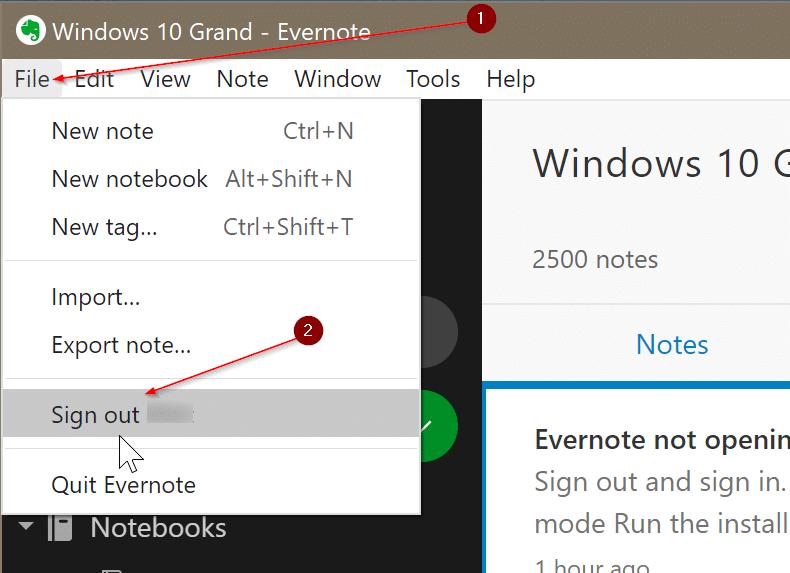 Evernote ne s'ouvre pas ou ne fonctionne pas sous Windows 10 pic4