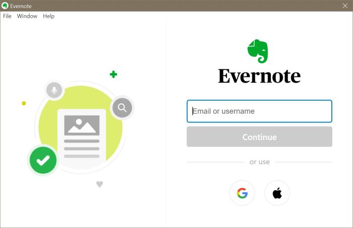 Evernote ne s'ouvre pas ou ne fonctionne pas dans Windows 10 pic6