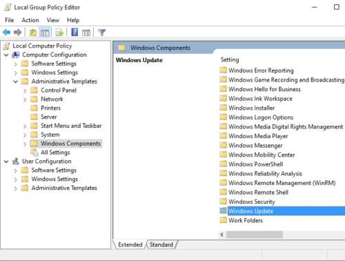 Correction du code d'erreur 0x80072EE6 des services de mise à jour Windows Server Étape 3