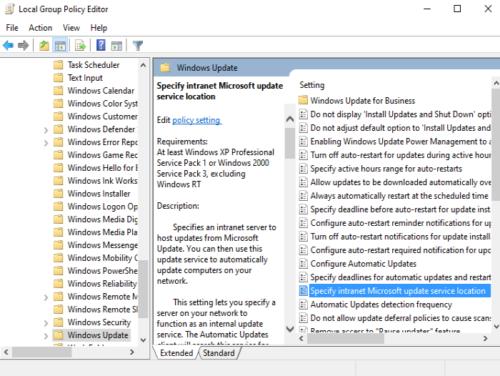 Correction du code d'erreur 0x80072EE6 des services de mise à jour Windows Server Étape 4