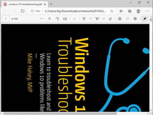 Fichier PDF ouvert