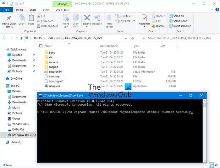 Exécuter la vérification de validation préalable à la mise à niveau dans Windows 10