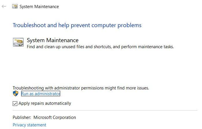 Outil de dépannage de la maintenance du système