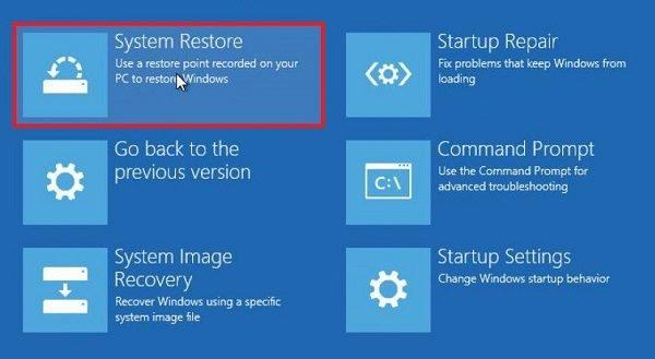 La restauration du système n'a pas réussi à extraire le fichier, erreur 0x80071160