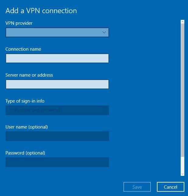 VPN fournisseur VPN pour ordinateur portable Windows 10