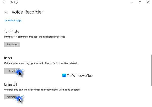 L'enregistreur vocal n'a pas pu enregistrer cet enregistrement