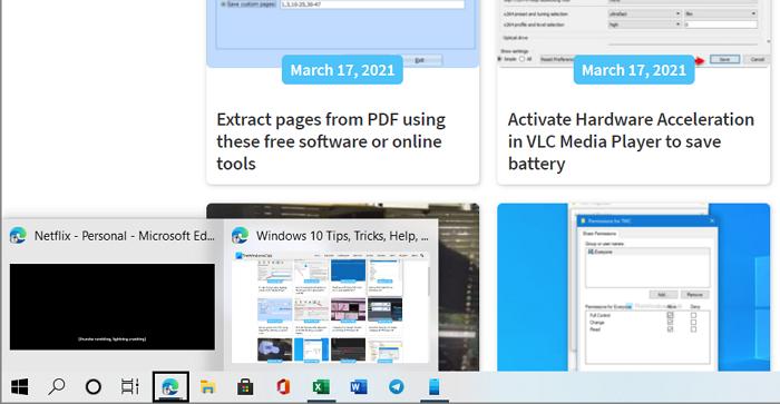 Afficher la barre des tâches en mode plein écran sous Windows 10