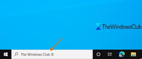 modifier le texte de la zone de recherche dans Windows 10