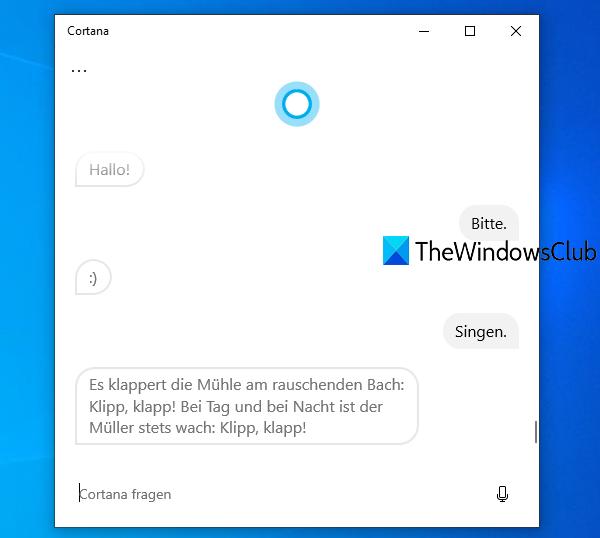 changer la voix et la langue de Cortana