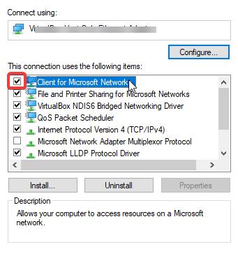 le client pour le réseau Microsoft vpn bloque les applications du magasin