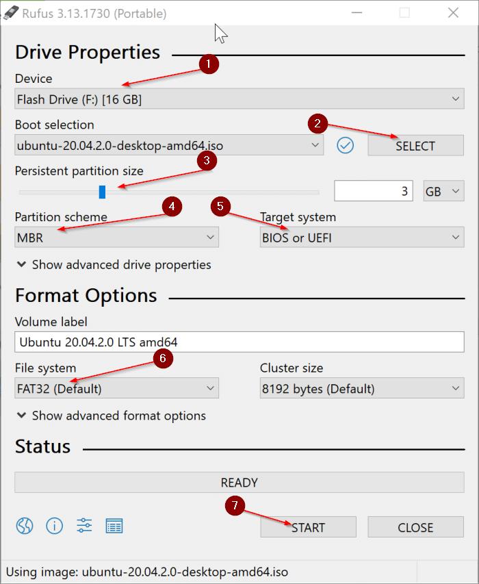 créer Ubuntu Live USB sur Windows 10 PC pic1.1