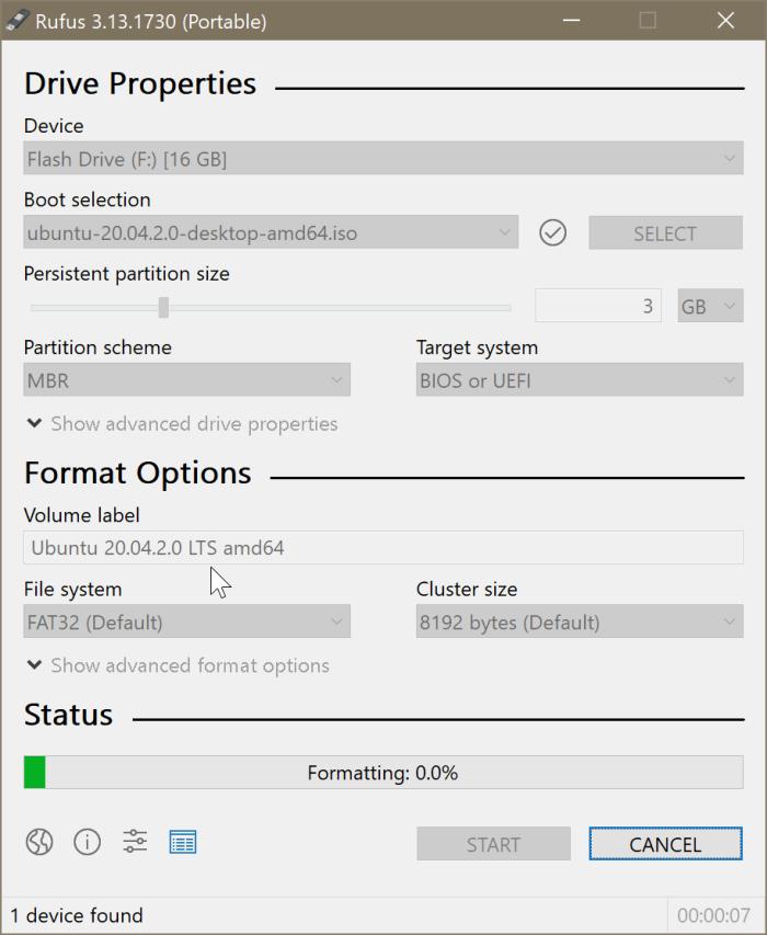 créer Ubuntu Live USB sur Windows 10 PC pic3