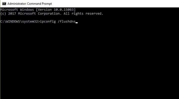 ipconfig / flushdns ne fonctionne pas