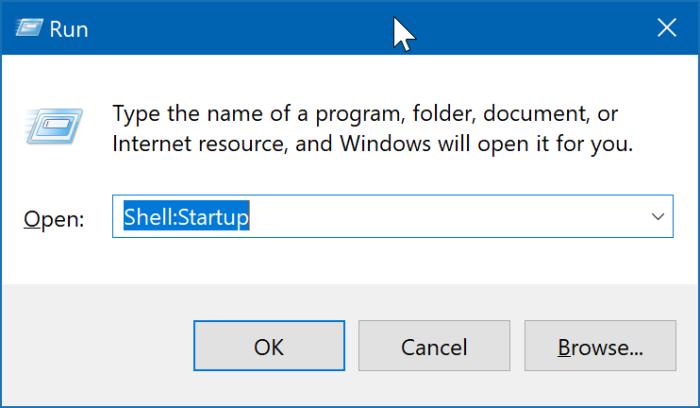 emplacement du dossier de démarrage dans Windows 10 pic2