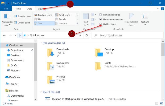 emplacement du dossier de démarrage dans Windows 10 pic3