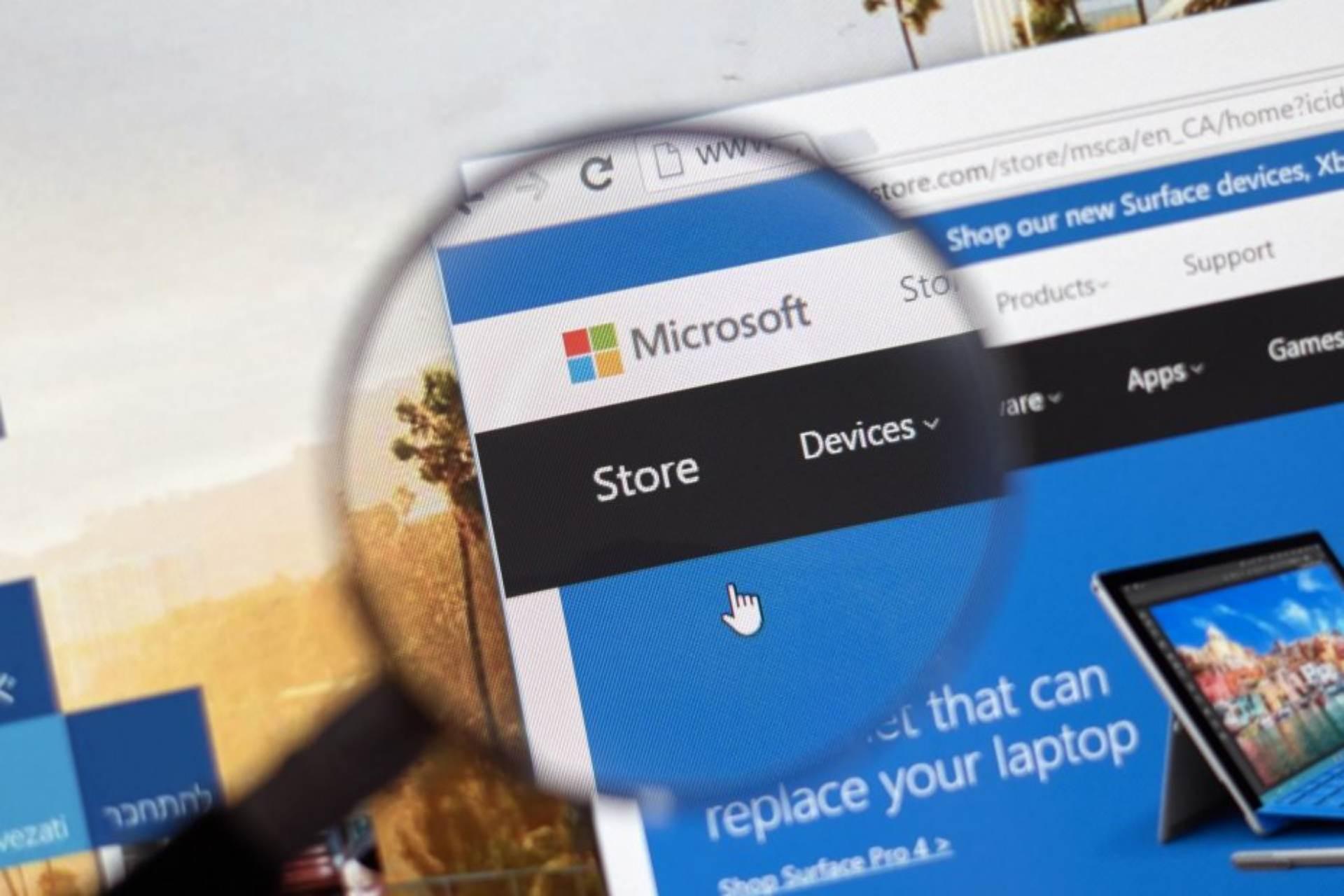 code d'erreur du Microsoft Store
