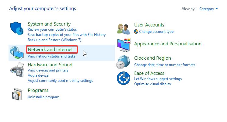 réseau et internet vpn bloque les applications windows store