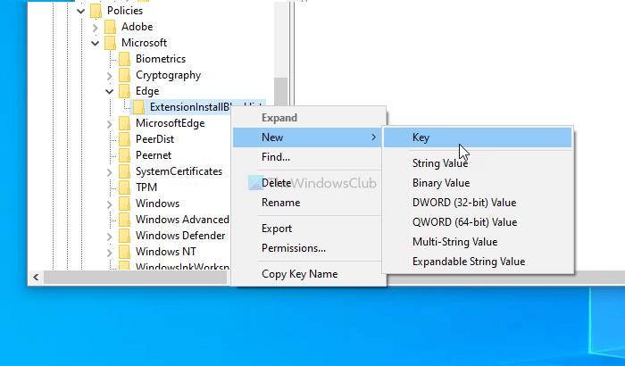 Comment empêcher les utilisateurs d'installer des extensions dans Edge