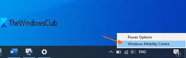 utiliser l'icône de la batterie