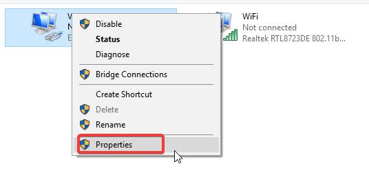 propriétés réseau vpn bloque les applications windows store